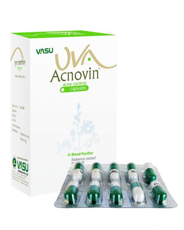 Uva Acnovin Capsules by Vasu Healthcare