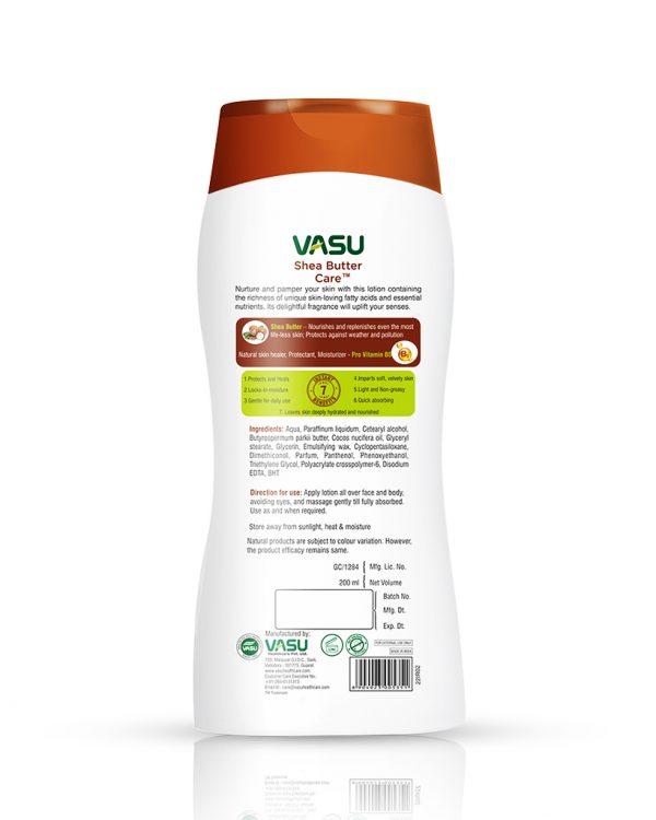 Vasu Shea Butter Crae Ultra Nourishing & Protecting Body Lotion Backside