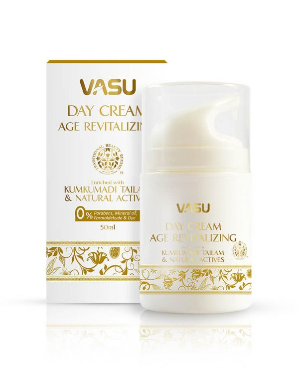 Vasu Age Revatalizing Day cream for charming and pollution free skin