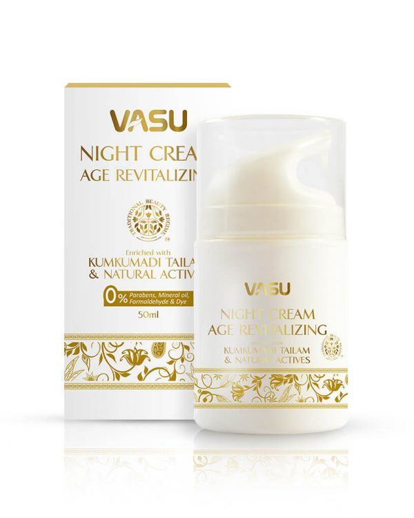 Vasu Age Revatalizing Night cream to reduce the signs of ageing