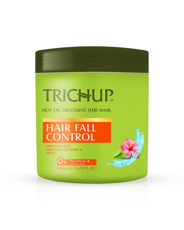 Trichup Hair Fall Control Hot Oil bTreatment Hair Mask - Prevents Hair fall Naturally and gives soft shiny and bouncy hair