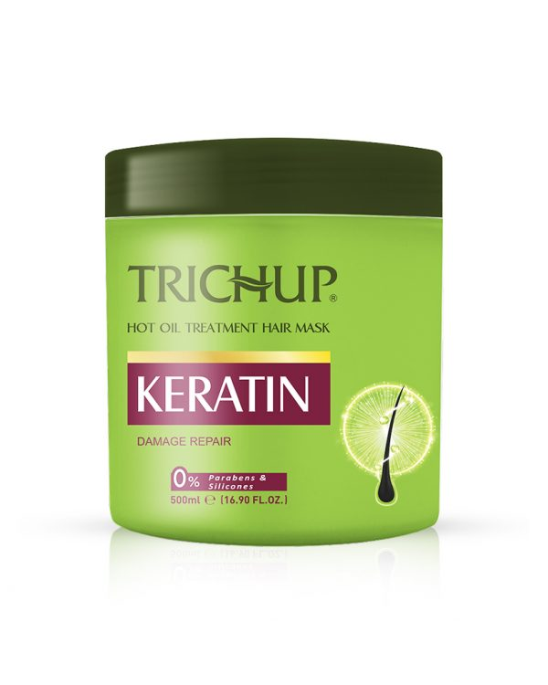 Trichup Keratin Hot Oil Treatment Hair Mask for Soft Shiny & Healthy Hair - Hair Spa At Home