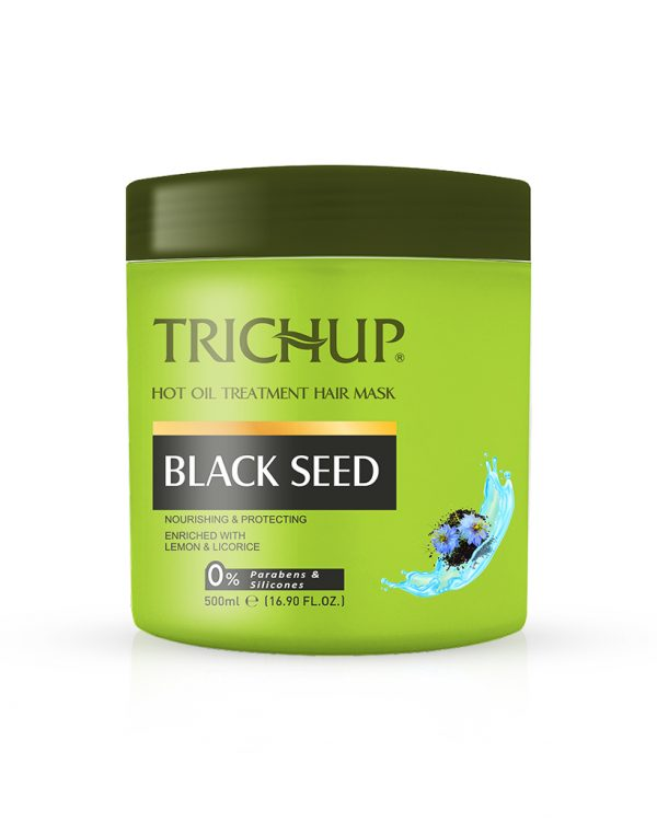 trichup Black Seed Hot Oil Treatment Hair Mask to prevent premature greying Healhty Scalp & soft & Shiny hair