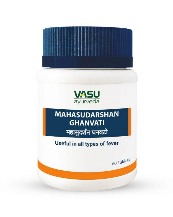 Mahasudarshan-Ghanvati - Ayurvedic Tablets to reduce fever - Vasu